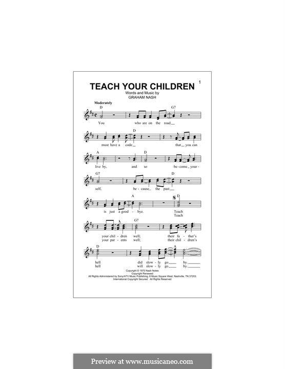 Teach Your Children (Crosby, Stills & Nash): melodia by Graham Nash