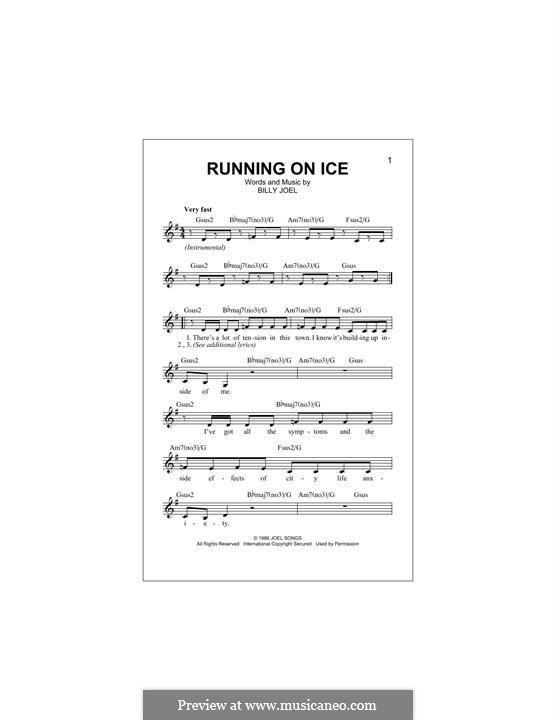 Running on Ice: melodia by Billy Joel