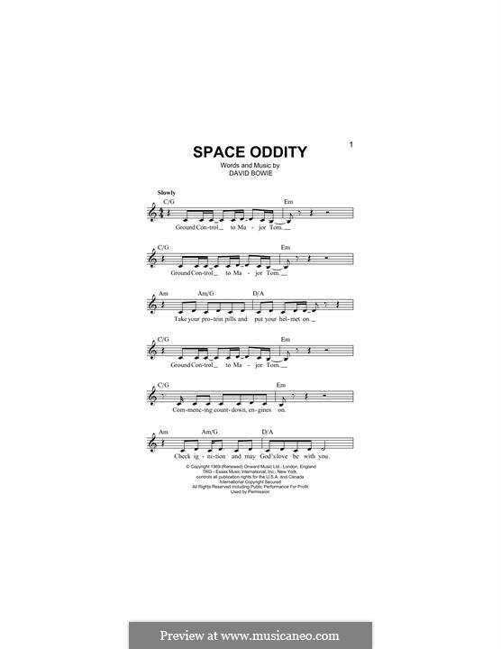 Space Oddity: melodia by David Bowie