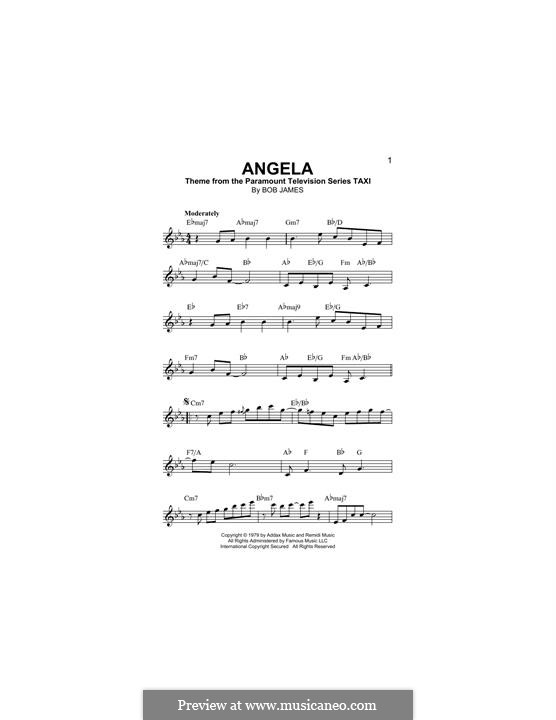 Angela (theme from Taxi): melodia by Bob James
