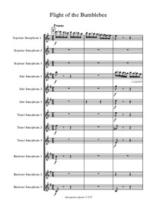 The Tale of Tsar Saltan. Opera: Flight of the Bumblebee, for saxophones by Nikolai Rimsky-Korsakov