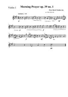 No.1 Morning Prayer: para quartetos de cordas by Pyotr Tchaikovsky
