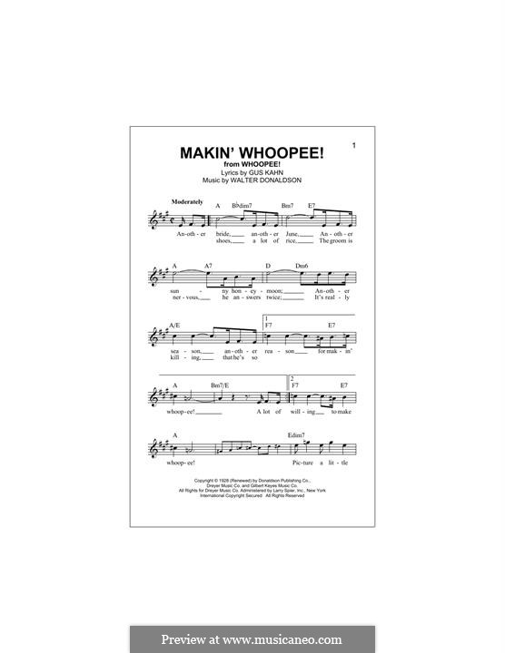 Makin' Whoopee!: melodia by Walter Donaldson