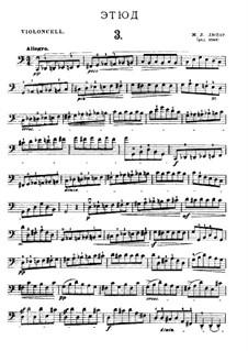 Twenty-One Etudes for Cello: Etude No.3 in C Major by Jean-Louis Duport