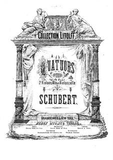 Four String Quartets: parte viola by Franz Schubert