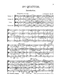String Quartet No.2, Op.23: Partitura completa by Alexander Kopylov