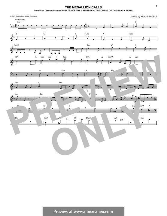 The Medallion Calls: melodia by Klaus Badelt