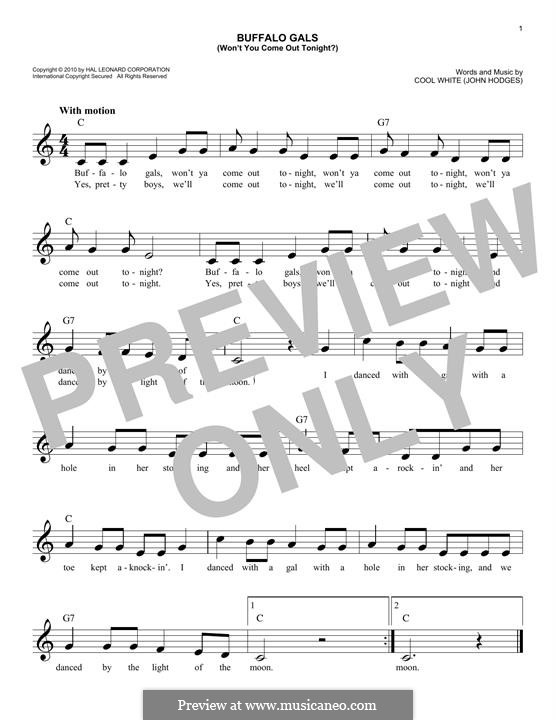 Buffalo Gals: melodia by John Hodges