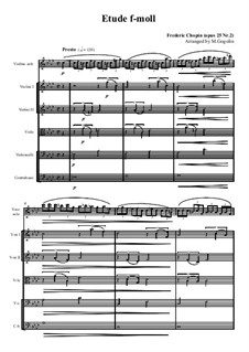 No.2 in F Minor: For solo and string orchestra by Frédéric Chopin