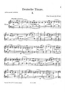 Four German Dances, Op.65: Para Piano by Emil Kronke