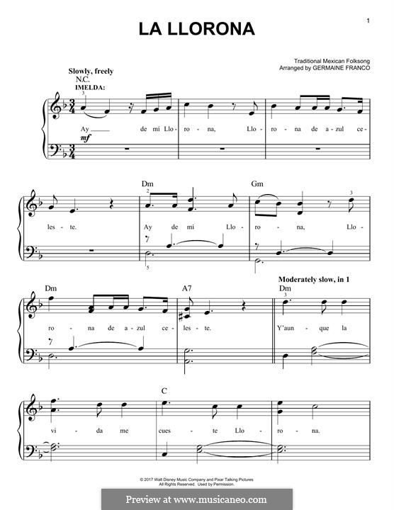 La Llorona: Para Piano by folklore