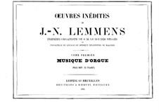 Organ Music. Book I: Organ Music. Book I by Jacques-Nicolas Lemmens