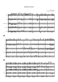 Radetzky March, Op.228: For wind quintet by Johann Strauss Sr.