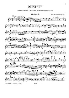 Piano Quintet in B Flat Major, Op.2: violino parte I by Max Lewandowsky