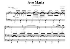 Ave Maria (Piano-vocal score), D.839 Op.52 No.6: For Soprano or Tenor (In Latin). Landscape in B Major by Franz Schubert