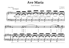 Ave Maria (Piano-vocal score), D.839 Op.52 No.6: For Contralto (In Latin). Landscape in F-Sharp Major by Franz Schubert