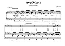 Ave Maria (Piano-vocal score), D.839 Op.52 No.6: For Bass (In Latin). Landscape in F-Sharp Major by Franz Schubert