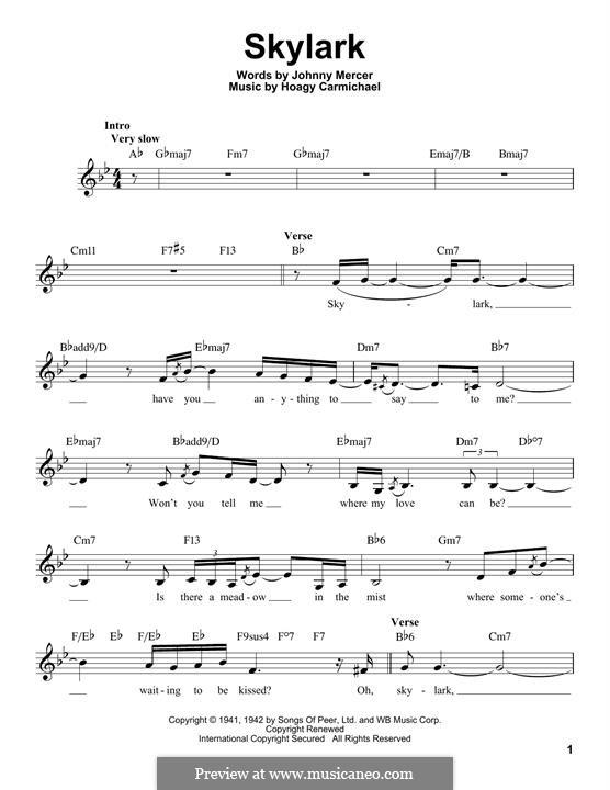 Skylark: melodia by Hoagy Carmichael