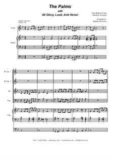 The Palms (with All Glory, Laud and Honor): para quarteto de bronze by Jean-Baptiste Faure, Melchior Teschner