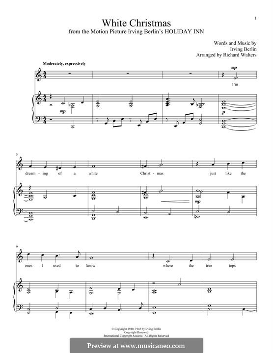 Piano-vocal version: Para vocais e piano by Irving Berlin