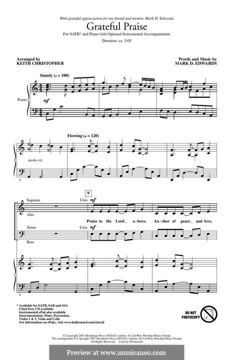 Grateful Praise: para coro misto by Keith Christopher