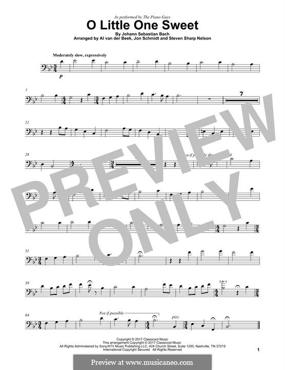 O Little One Sweet (The Piano Guys): para violoncelo by Johann Sebastian Bach