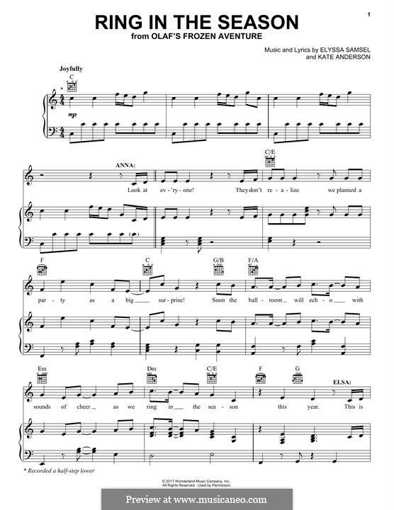 Ring in the Season: Para vocais e piano (ou Guitarra) by Kate Anderson, Elyssa Samsel