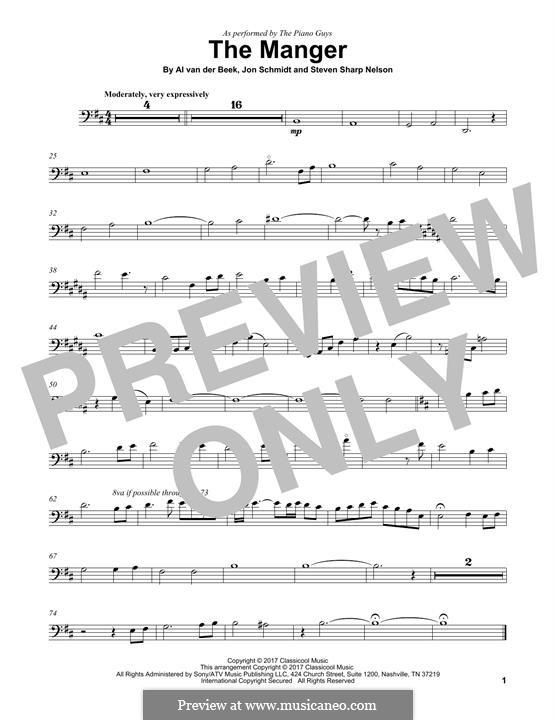 The Manger (The Piano Guys): para violoncelo by Jon Schmidt, Al van der Beek, Steven Sharp Nelson