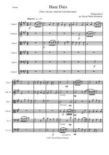 Haec Dies: For string sextet by William Byrd
