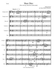 Haec Dies: For brass sextet by William Byrd
