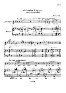 Ich möchte hingehn, S.296: Ich möchte hingehn by Franz Liszt
