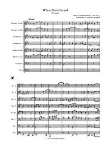 When David heard that Absalom was slain: For wind ensemble by Thomas Weelkes