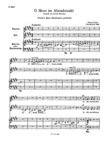 O Meer im Abendstrahl, S.344: O Meer im Abendstrahl by Franz Liszt