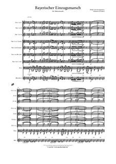 Bayerischer Einzugsmarsch: For wind ensemble by musikschmie.de