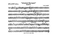 Admiral Farragut: Alto horns I, II parts by Frank Hoyt Losey