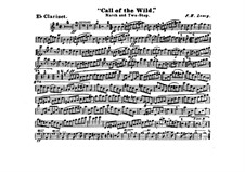 Call of the Wild: clarinete em Es parte by Frank Hoyt Losey
