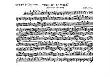 Call of the Wild: Clarinets II, III in B parts by Frank Hoyt Losey