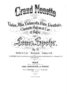 Grand Nonet, Op.31: parte do violino by Louis Spohr