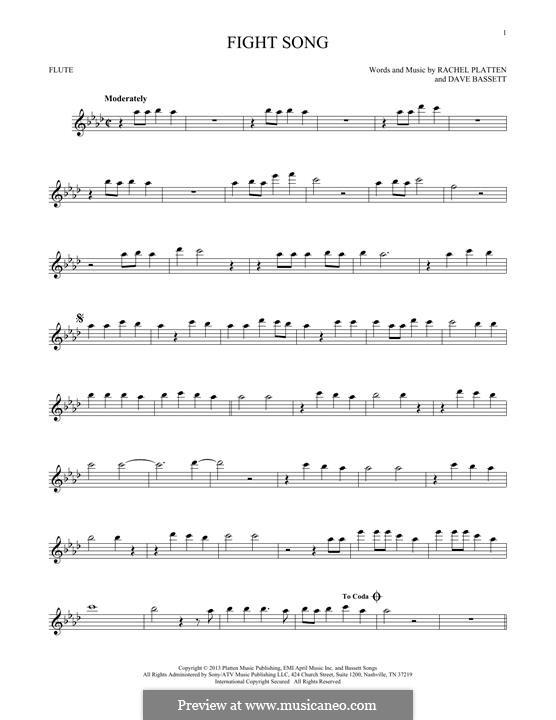 Fight Song: para flauta by Dave Bassett, Rachel Platten