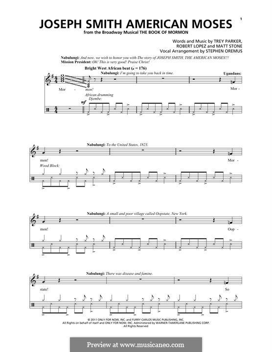 Joseph Smith American Moses (from The Book of Mormon): Para vocais e piano by Robert Lopez, Trey Parker, Matt Stone