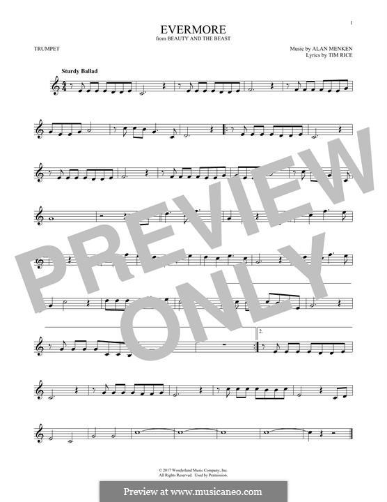 Evermore: para trompeta by Alan Menken