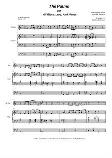The Palms (with All Glory, Laud and Honor): Duet for Bb-trumpet and french horn by Jean-Baptiste Faure, Melchior Teschner