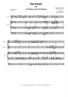 The Palms (with All Glory, Laud and Honor): Duet for Bb-trumpet by Jean-Baptiste Faure, Melchior Teschner