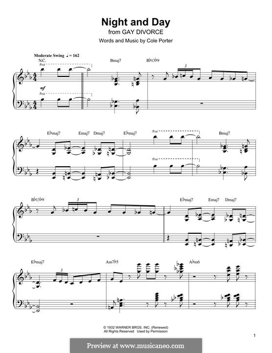 Night and Day (Frank Sinatra): Para Piano by Cole Porter