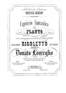 Capriccio on 'Rigoletto' by Verdi: Capriccio on 'Rigoletto' by Verdi by Donato Lovreglio