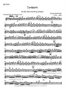 Tambourin in F Major: For violin and strings - solo violin part by François Joseph Gossec