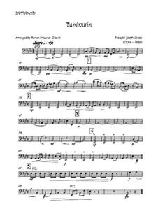 Tambourin in F Major: For violin and strings - solo violoncello part by François Joseph Gossec