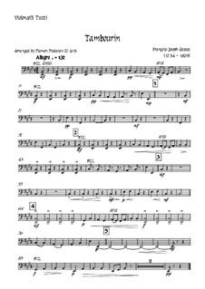 Tambourin in F Major: For violin and strings - violoncello-tutti part by François Joseph Gossec