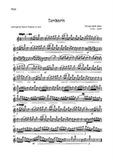 Tambourin in F Major: For flute and strings - flute part by François Joseph Gossec