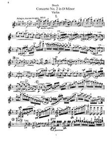 Violin Concerto No.2 in D Minor, Op.44: Parte de solo by Max Bruch